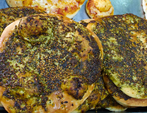 Zaatar Seasoning Spread in Culinary Use