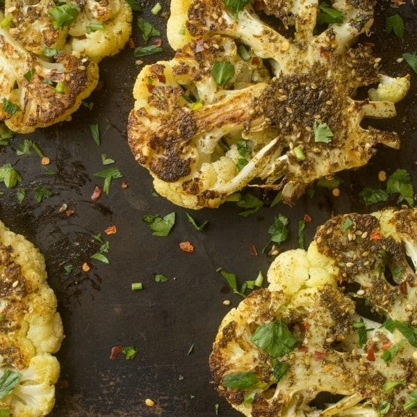 Zaatar recipe - zaatar cauliflower steaks