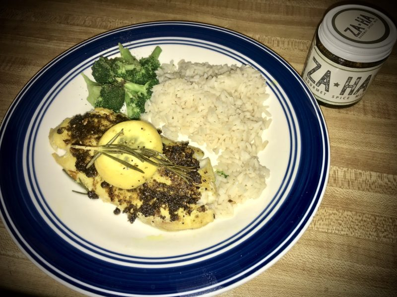 Zaatar spread tilapia recipe za-ha